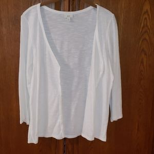 J Jill white button up casual top